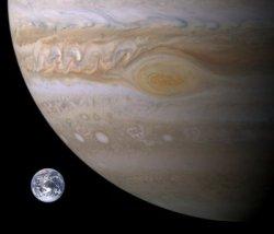 Tamaño comparativo Júpiter - Tierra