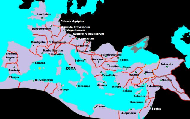 Capitales de las Provincias del Imperio Romano.©
