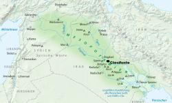 La fértil región de Mesopotamia.