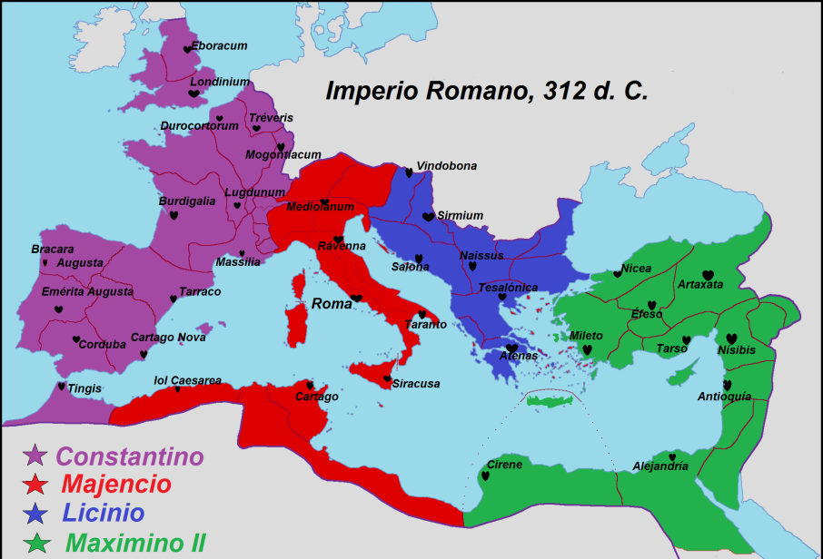 Nummus de Maximino II Daza. Roma-002