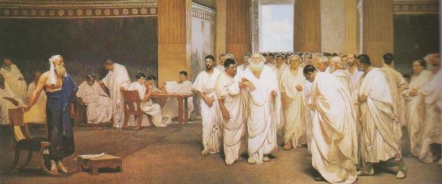 Apio Claudio Ceco (el Ciego) en un discurso ante el Senado, 340-273 a.C. Fue Edil, Cónsul, Dictador, en dos ocasiones, y Censor.