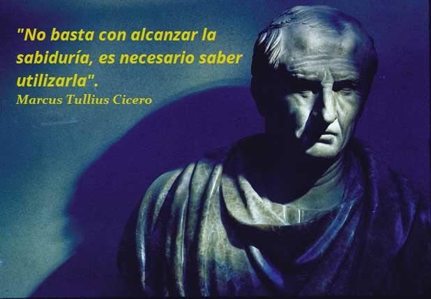 Marco Tulio Cicerón. - Filósofo, Escritor, Cónsul, Rhetor -.