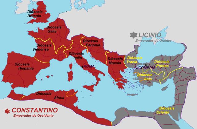 Constantino y Licinio. Imperio Romano, 316-324
