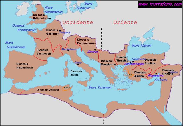 Imperio Romano en época de constancio II (353-361)