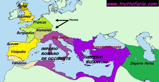 Imperio Romano mediados siglo V.