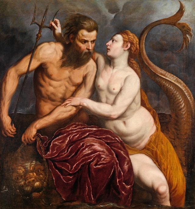 Anfítrite y Poseidón (Paris Bordone, 1500 - 1571)