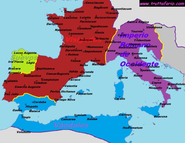 Imperio Romano mediados del Siglo V
