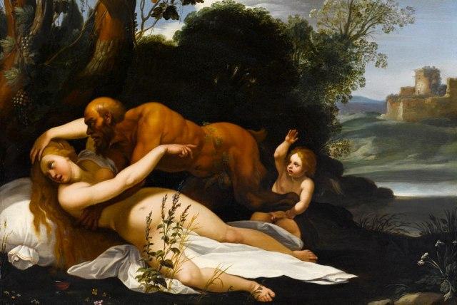 Antíope y Zeus (Giuseppe Cesari, 1568 - 1640)