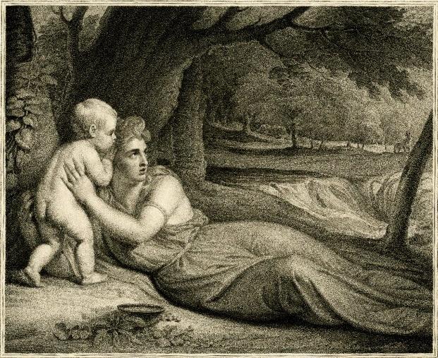Álope e Hipotoonte (grabado de Richard Earlom, 1743 - 1822)