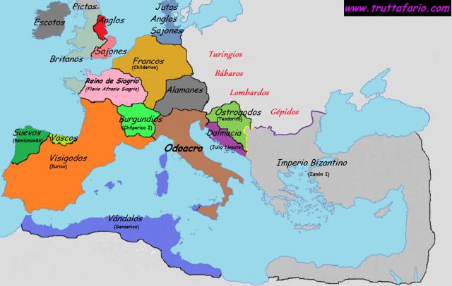 Fin del Imperio Romano, 476 - 480.