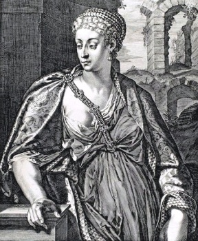 Milonia Cesonia (Grabado de G. Sadeler, 1575-1629)